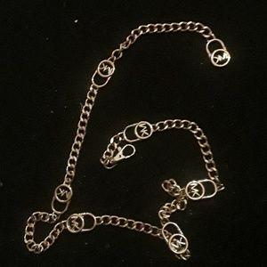 Gold Michael Kors chain belt